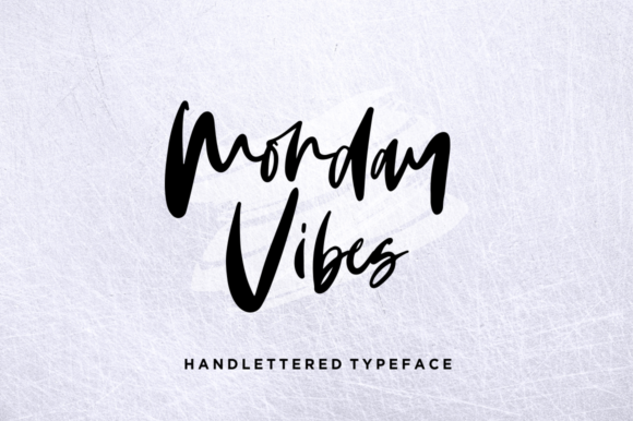 Print on Demand: Monday Vibes Script & Handwritten Font By Sronstudio