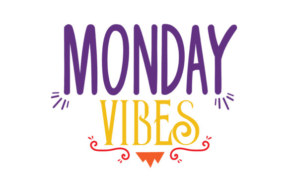 Download Free Monday Vibes Quote Svg Cut Graphic By Thelucky Creative Fabrica for Cricut Explore, Silhouette and other cutting machines.