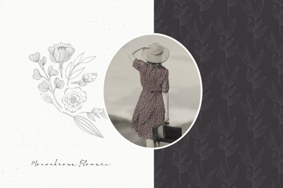 Monochrome Flowers Graphic Illustrations By webvilla - Image 3