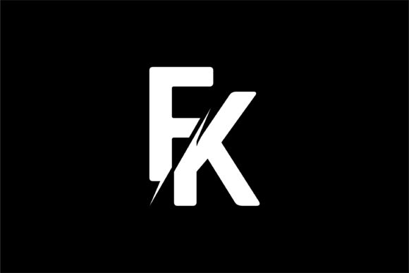 Download Free Monogram Fk Logo Graphic By Greenlines Studios Creative Fabrica for Cricut Explore, Silhouette and other cutting machines.