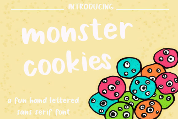 Print on Demand: Monster Cookies Sans Serif Font By Dj Studio
