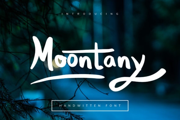 Print on Demand: Moontany Display Font By MasdikaStudio