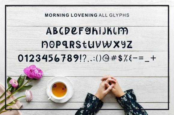 Print on Demand: Morning Lovening Display Font By MJB Letters - Image 2