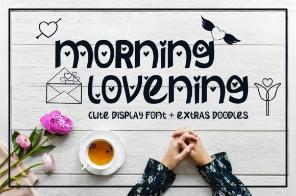 Print on Demand: Morning Lovening Display Font By MJB Letters - Image 1
