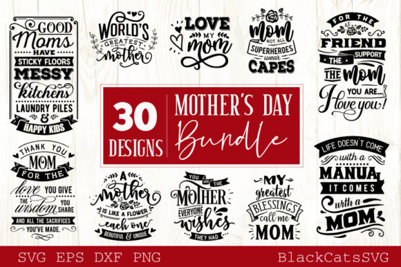 Mother's Day SVG Bundle Graphic Crafts By BlackCatsMedia - Image 2
