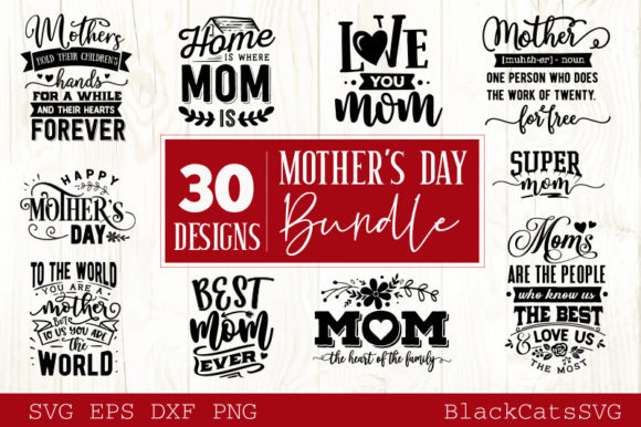 Mother's Day SVG Bundle Graphic Crafts By BlackCatsMedia - Image 3