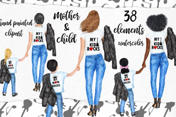 Mother's Day Clipart Graphic Illustrations By LeCoqDesign