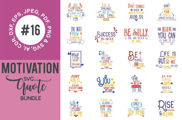 Print on Demand: Motivational Quotes Bundle Graphic Crafts By TheLucky