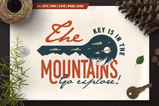 Mountain Key Logo Badge Graphic By LovePowerDesigns