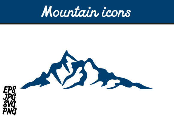 Print on Demand: Mountain Icon SVG Vector Image Graphic Icons By Arief Sapta Adjie