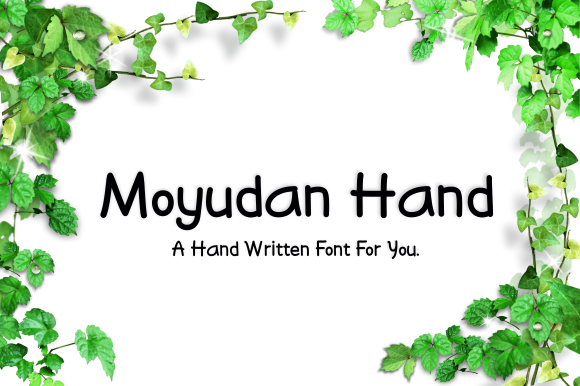 Print on Demand: Moyudan Script & Handwritten Font By LetterBeary