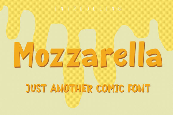 Print on Demand: Mozzarella Display Font By Royaltype