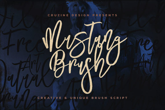 Print on Demand: Mustang Script & Handwritten Font By JumboDesign