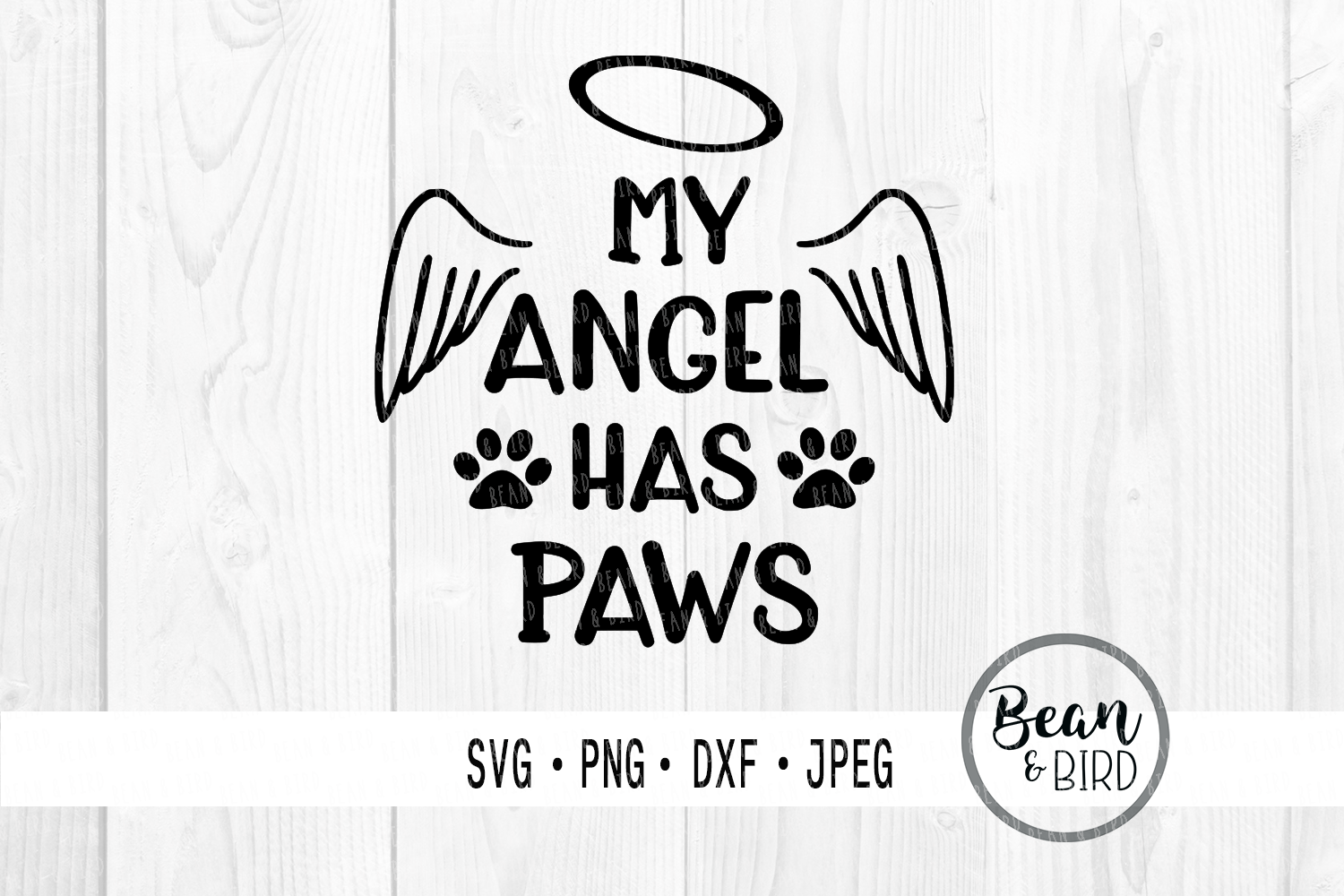 Download Free My Angel Has Paws Grafik Von Jessica Maike Creative Fabrica for Cricut Explore, Silhouette and other cutting machines.