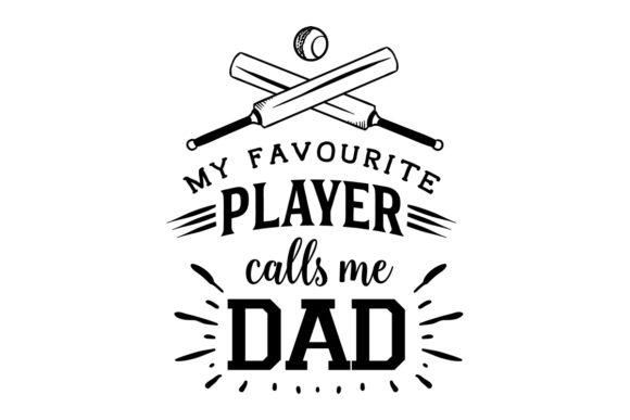 My Favourite Player - Dad Australia Craft Cut File By Creative Fabrica Crafts - Image 1