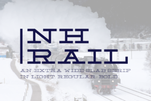 NH Rail Font By VonTypeCo