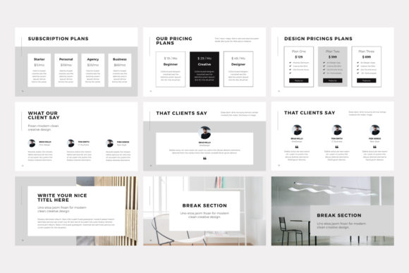 Print on Demand: NORS Powerpoint Template Graphic Presentation Templates By pixasquare - Image 12