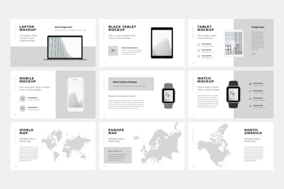 Print on Demand: NORS Powerpoint Template Graphic Presentation Templates By pixasquare - Image 16