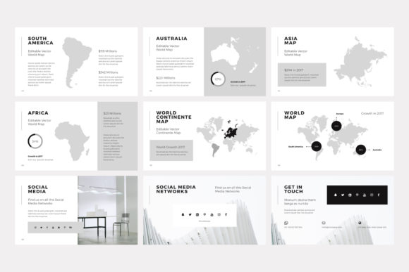 Print on Demand: NORS Powerpoint Template Graphic Presentation Templates By pixasquare - Image 18