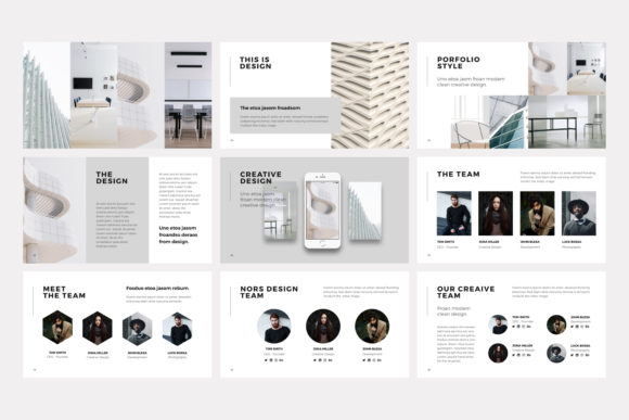 Print on Demand: NORS Powerpoint Template Graphic Presentation Templates By pixasquare - Image 8