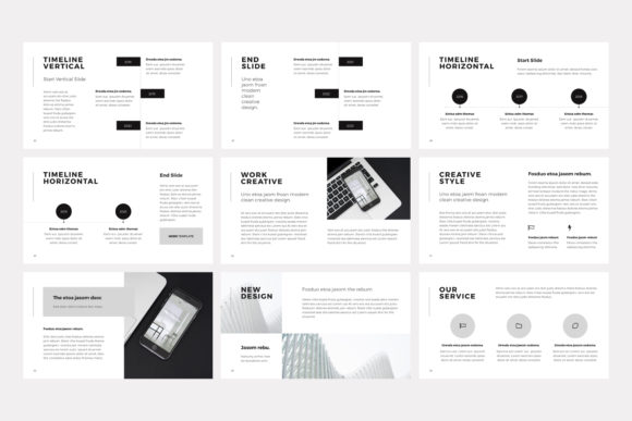 Print on Demand: NORS Powerpoint Template Graphic Presentation Templates By pixasquare - Image 9