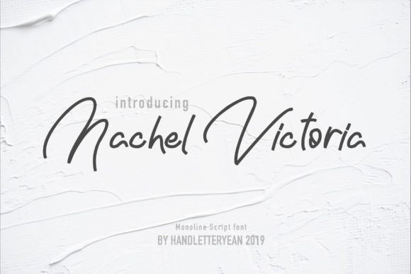 Print on Demand: Nachel Victoria Script & Handwritten Font By yean.aguste