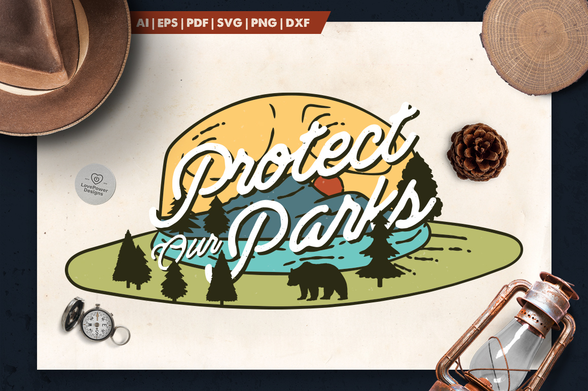 Download Free National Park Ranger Logo Graphic By Lovepowerdesigns Creative SVG Cut Files