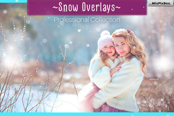 Print on Demand: Natural Snow Overlays Graphic Layer Styles By MixPixBox