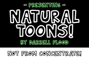 Natural Toons Font By Dadiomouse