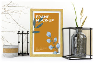 Natural Wood Frame Mockup Graphic By dumitrasconiu.design