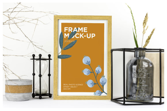 Natural Wood Frame Mockup Graphic Product Mockups By dumitrasconiu.design