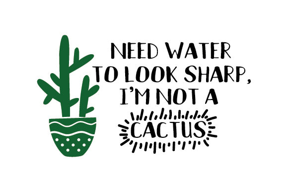 Download Free Need Water To Look Sharp I M Not A Cactus Svg Cut File By for Cricut Explore, Silhouette and other cutting machines.