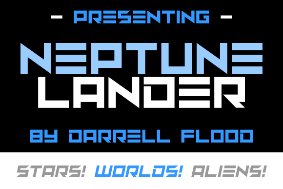 Print on Demand: Neptune Lander Display Font By Dadiomouse