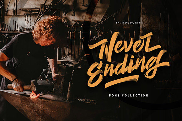 Print on Demand: Never Ending Script & Handwritten Font By InspiraType