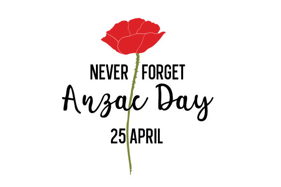 Never Forget Anzac Day 25 April Australia Craft Cut File By Creative Fabrica Crafts