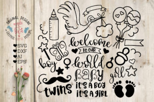 New Baby Graphics Graphic Illustrations By GraphicHouseDesign