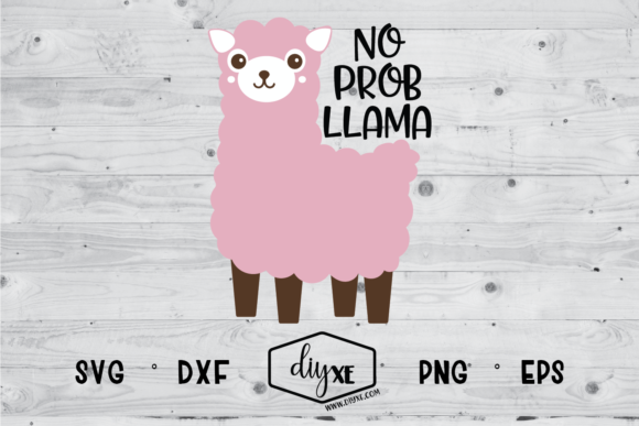 Download Free No Prob Llama Graphic By Sheryl Holst Creative Fabrica for Cricut Explore, Silhouette and other cutting machines.