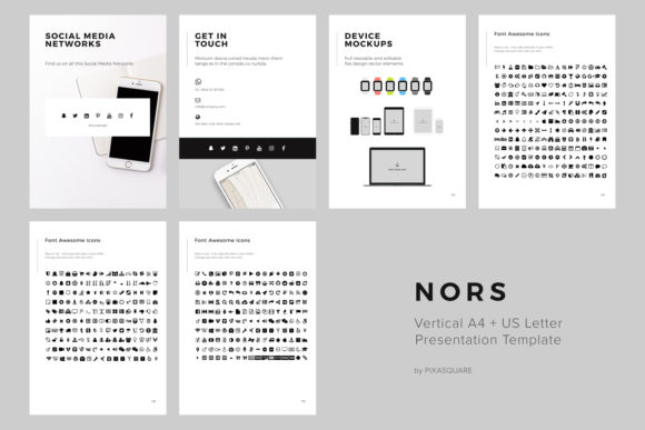 Nors Vertical Google Slide A4 + U