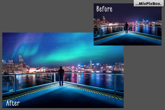 Print on Demand: Northern Lights Photo Overlays Graphic Layer Styles By MixPixBox - Image 6