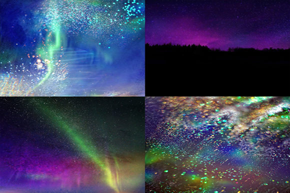 Northern Night Backgrounds Graphic By MixPixBox Image 3