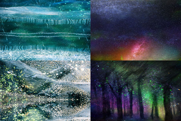 Northern Night Backgrounds Graphic By MixPixBox Image 4