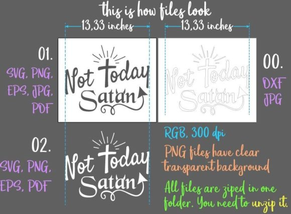 Download Free Not Today Satan Svg Graphic By Digitals By Hanna Creative Fabrica for Cricut Explore, Silhouette and other cutting machines.