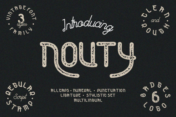 Print on Demand: Nouty Display Font By lutfihakim13