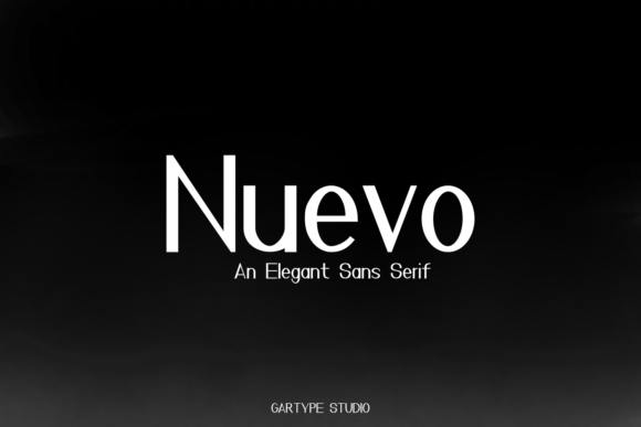 Print on Demand: Nuevo Sans Serif Font By GartypeStudio
