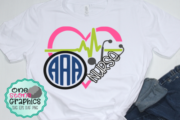 Download Free Nurse Heart Monogram Svg Graphic By Onestonegraphics Creative for Cricut Explore, Silhouette and other cutting machines.