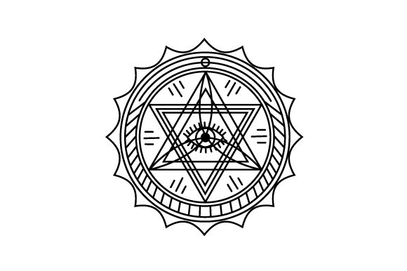 Download Free Occult Design Svg Cut File By Creative Fabrica Crafts Creative for Cricut Explore, Silhouette and other cutting machines.