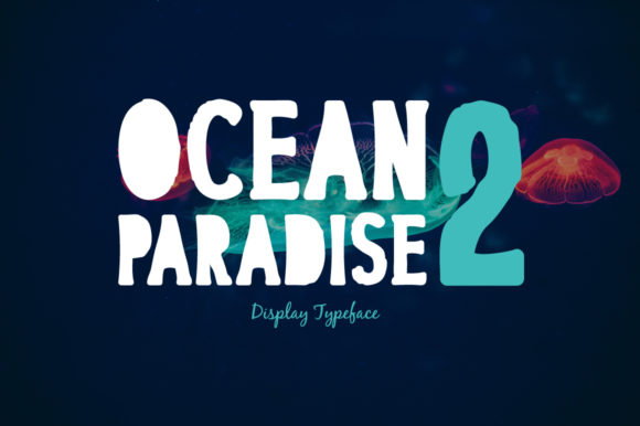 Print on Demand: Ocean Paradise 2 Display Font By Spanking Fonts