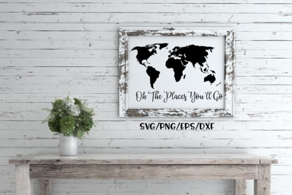 Download Free Oh The Places You Ll Go Map Svg Graphic By Sheryl Holst for Cricut Explore, Silhouette and other cutting machines.