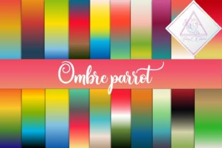 Ombre Parrot Digital Paper Graphic By fantasycliparts