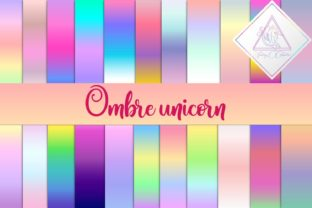 Ombre Unicorn Digital Paper Graphic By fantasycliparts